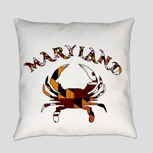 Maryland Flag Crab Everyday Pillow